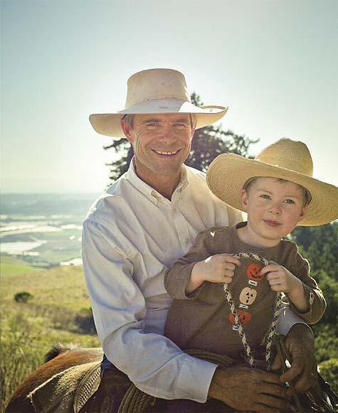 Joe and Charlie, horseback